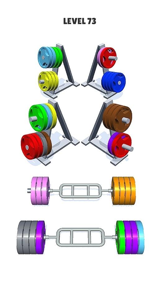 杠鈴分類顏色拼圖(3)